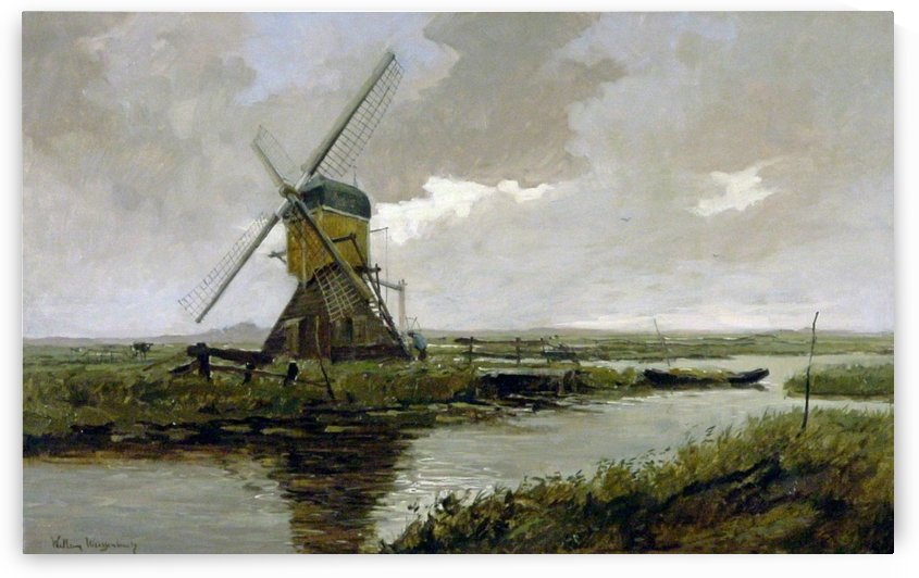Landscape with a mill by Jan Hendrik Weissenbruch