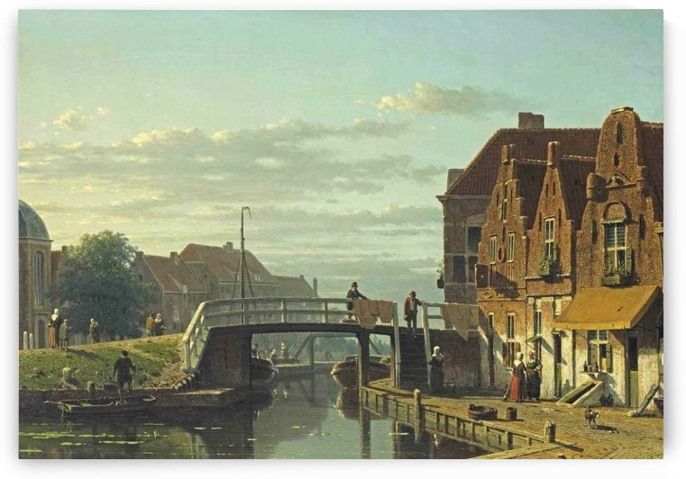 A view of the Delftsekade, Leidschendam, 1850 by Jan Hendrik Weissenbruch