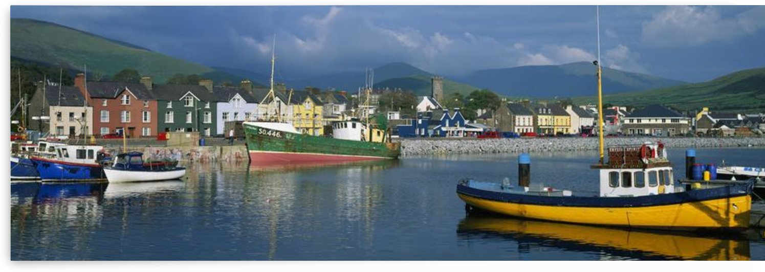 Boats Moored At A Harbor, Dingle Harbor, Dingle Peninsula, County Kerry, Republic Of Ireland by PacificStock