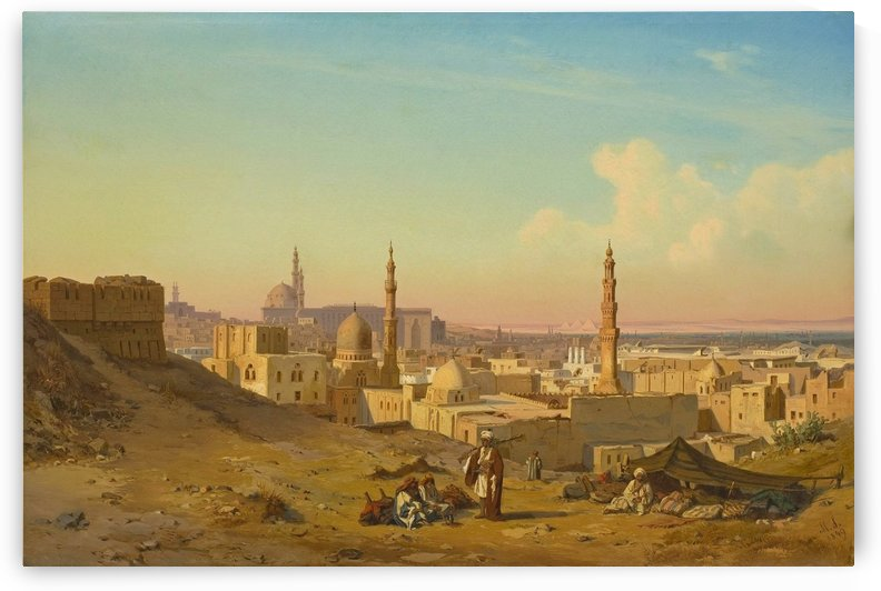 Arab encampement in front of Cairo by Max Schmidt