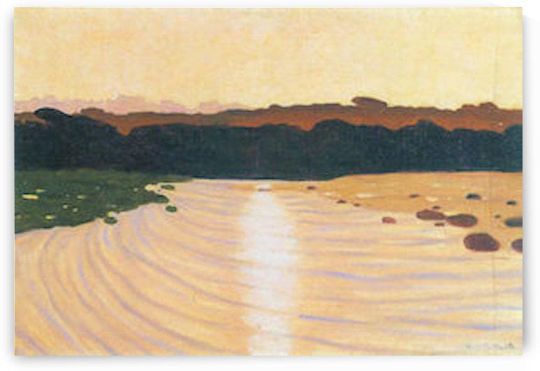 Evening scene by Felix Vallotton by Felix Vallotton