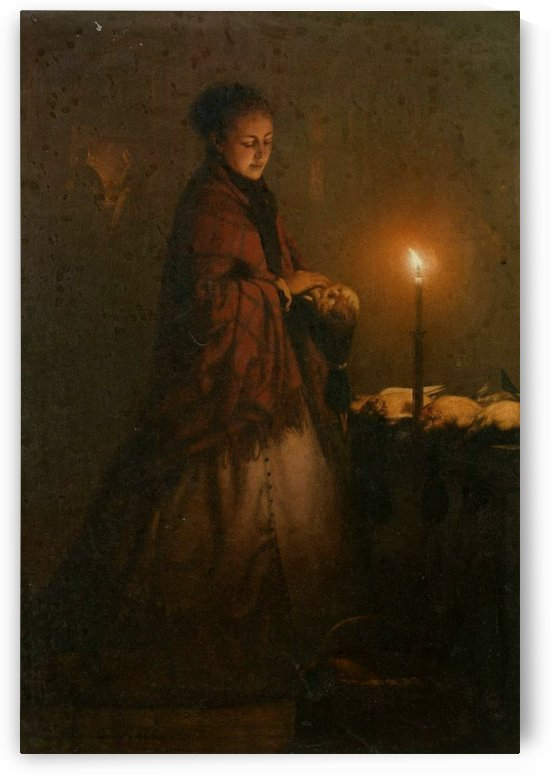 Selling Game at the Groenmarkt in The Hague, 1868 by Petrus van Schendel