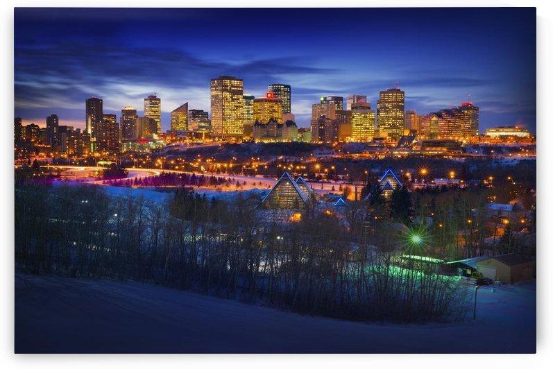 Edmonton Winter Skyline by PacificStock