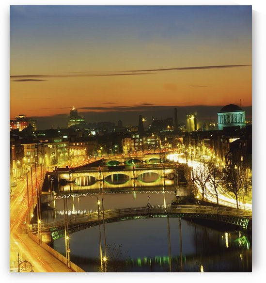 Dublin,Co Dublin,Ireland;View Of The River Liffey At Nighttime by PacificStock