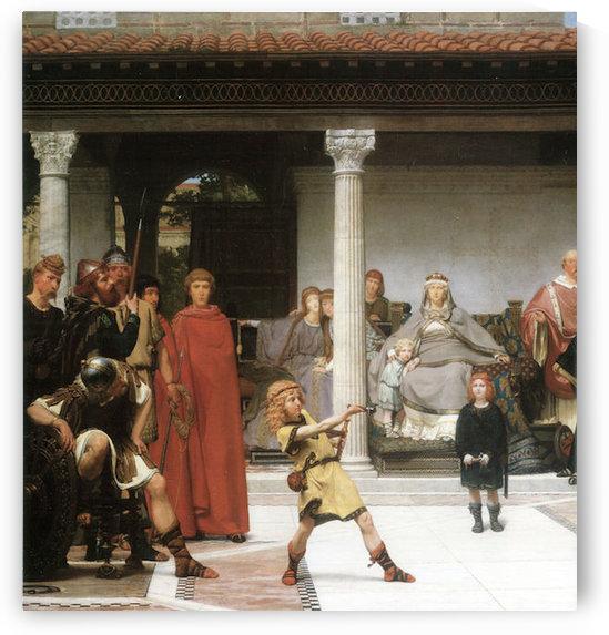 The education of children Clovis, detail by Alma-Tadema by Alma-Tadema