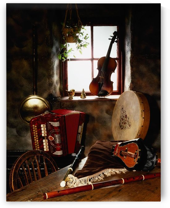 Traditional Musical Instruments, In Old Cottage, Ireland by PacificStock