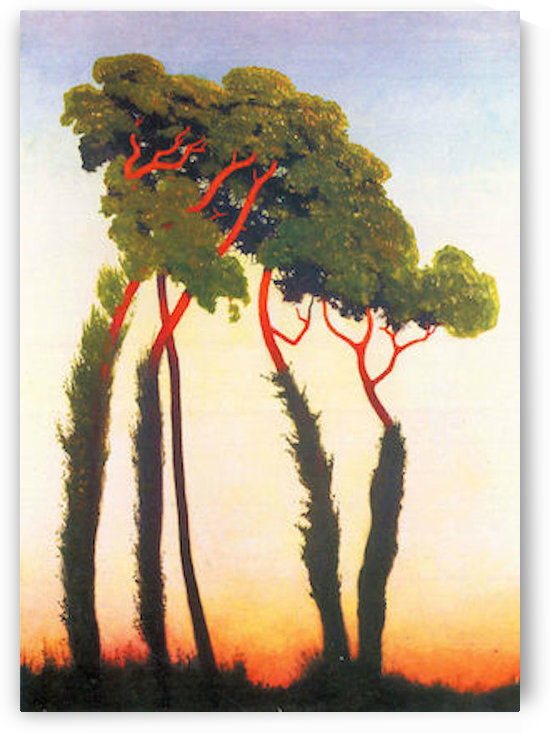 Five Trees by Felix Vallotton by Felix Vallotton