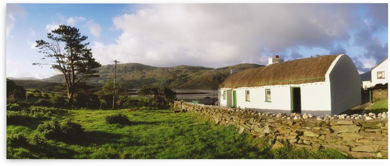 Traditional Cottage, Near Lough Rus Point, Ardara, Co Donegal, Ireland by PacificStock