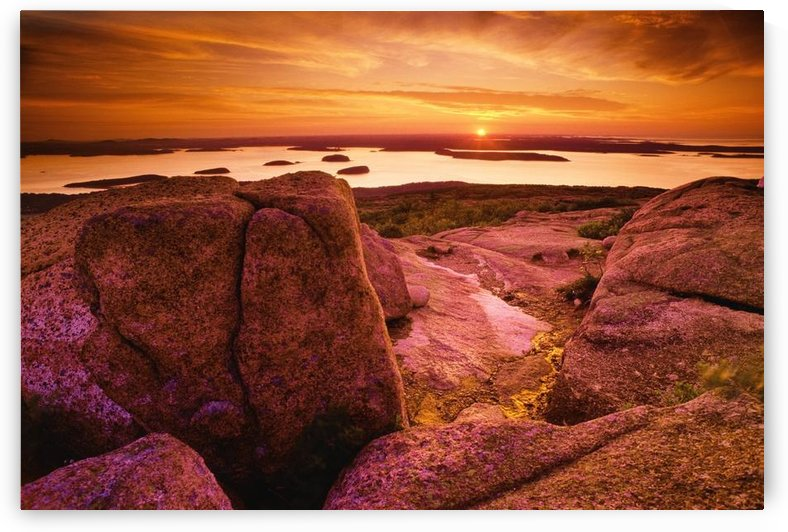 View From Cadillac Mountain At Sunrise, Acadia National Park, Maine, U.S.A by PacificStock