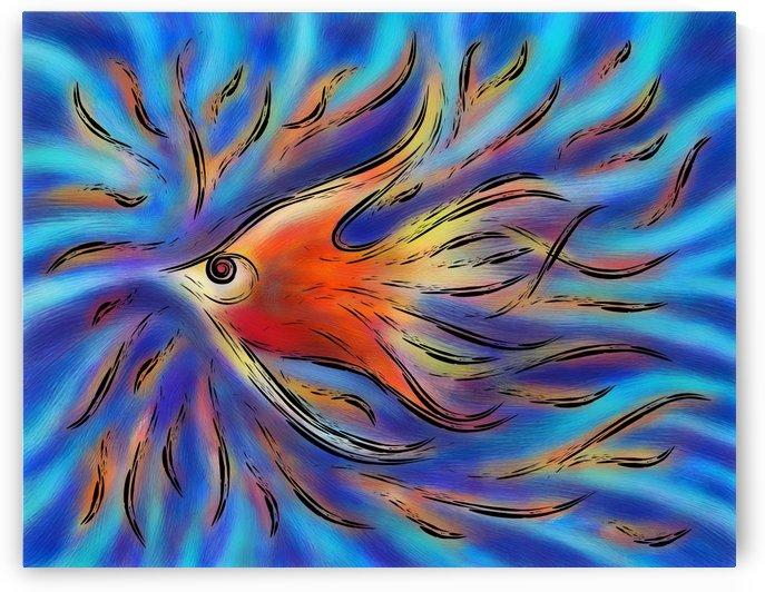 Poloniussa - red angelfish by Cersatti Art