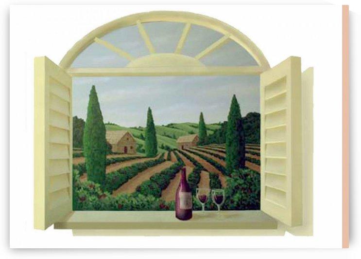 Tuscan Window by edwin leishman