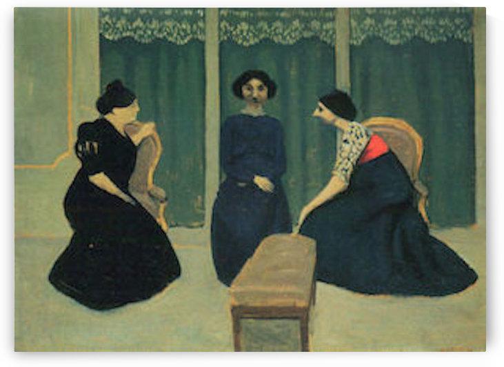 Gossip by Felix Vallotton by Felix Vallotton