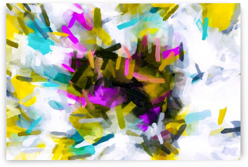 pink yellow blue black abstract painting background by TimmyLA