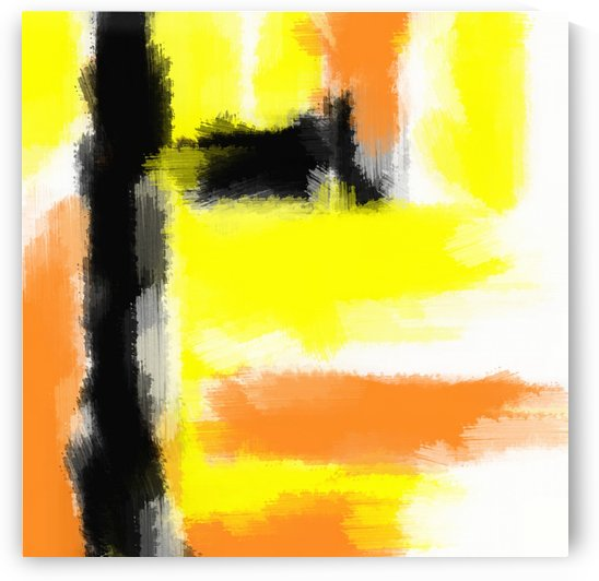 orange yellow and black painting abstract with white background by TimmyLA