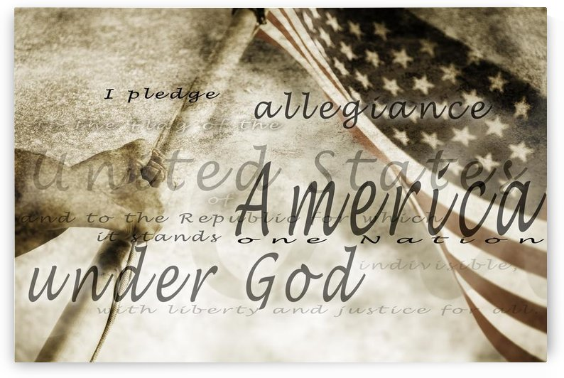 The Pledge Of Allegiance And An American Flag by PacificStock