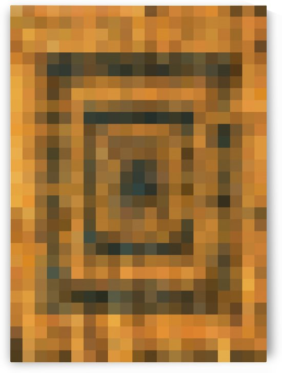 brown black and orange pixel abstract background by TimmyLA