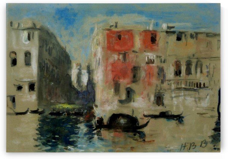 Canal in Venice by Hercules Brabazon Brabazon