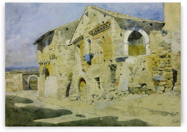 Houses at Tivoli by Hercules Brabazon Brabazon