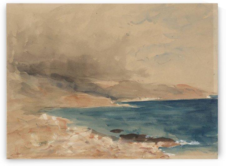 Seascape from Bordighera by Hercules Brabazon Brabazon
