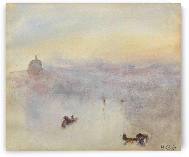 Venetian view by Hercules Brabazon Brabazon