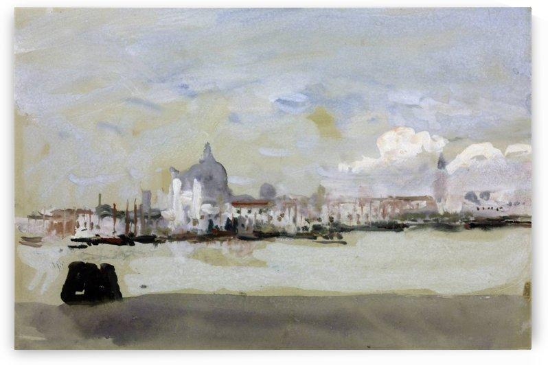 A grey day in Venice by Hercules Brabazon Brabazon