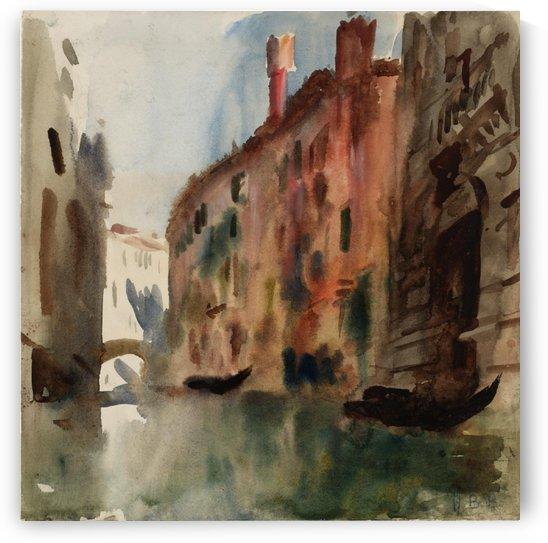 Side Canal, Venice by Hercules Brabazon Brabazon