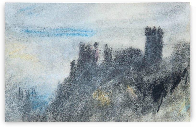 View of a castle by Hercules Brabazon Brabazon