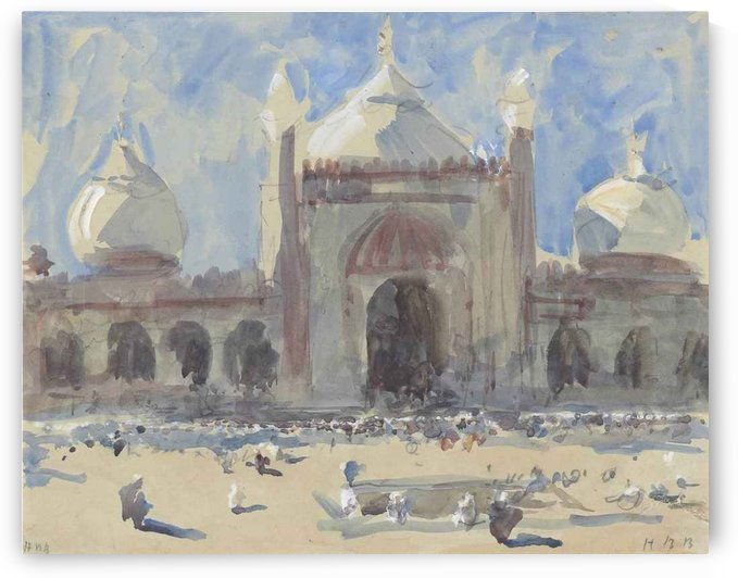 Entrance to the Jama Masjid, Delhi by Hercules Brabazon Brabazon