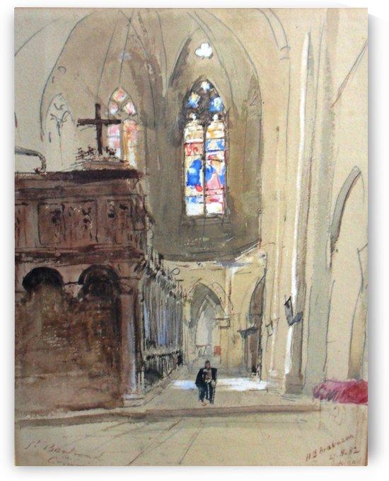 A view of St Bertrand de Comminges Church by Hercules Brabazon Brabazon