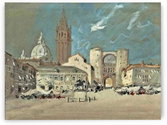 Piazza dei Signori, Padua by Hercules Brabazon Brabazon