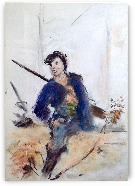 Study of a French soldier by Hercules Brabazon Brabazon