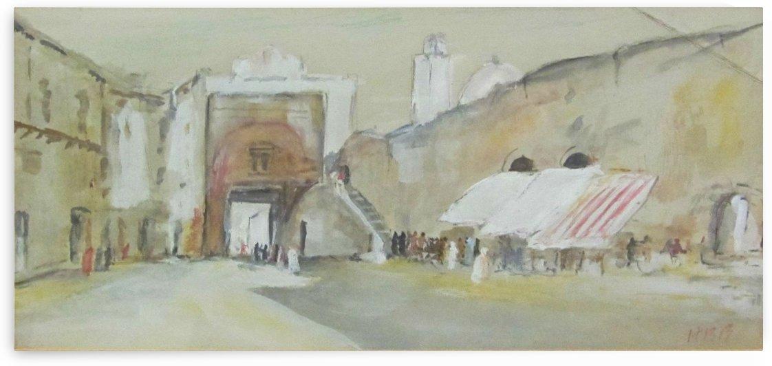 Tunisian street scene by Hercules Brabazon Brabazon