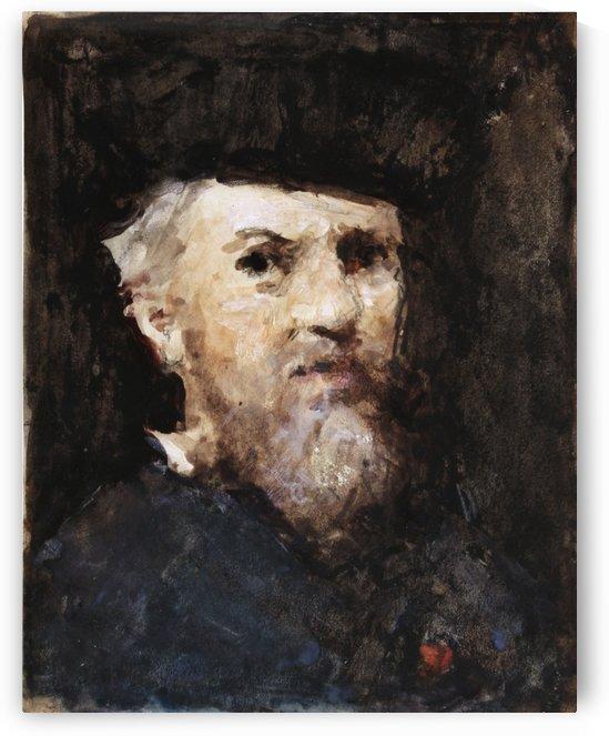 A souvenir of a self-portrait by Jean-Jacques Henner by Hercules Brabazon Brabazon