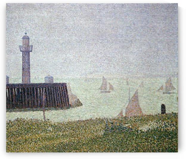 Harbor in Honfleur 2 by Seurat by Seurat