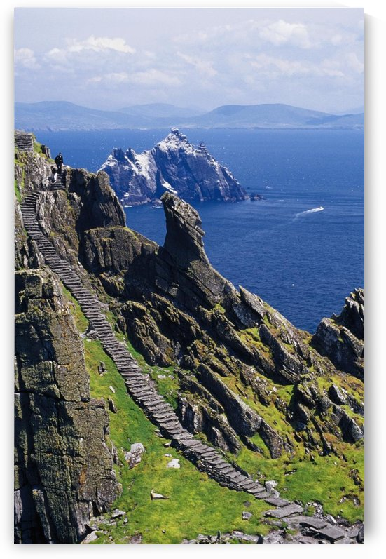 Stone Stairway, Skellig Michael, Skellig Islands, County Kerry, Ireland by PacificStock