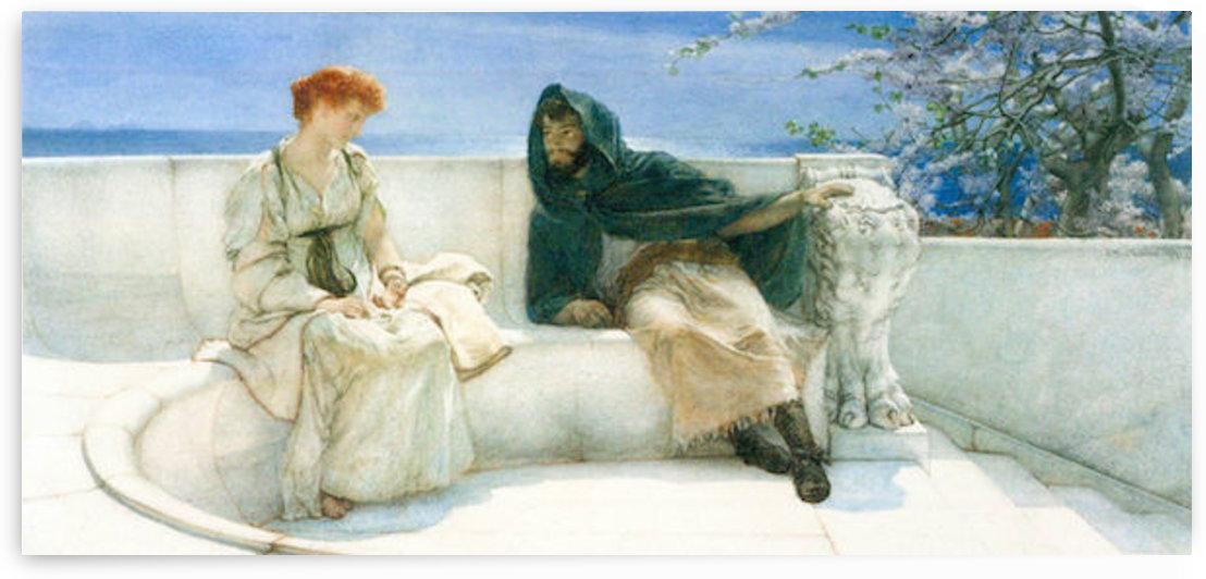 The explaination by Alma-Tadema by Alma-Tadema