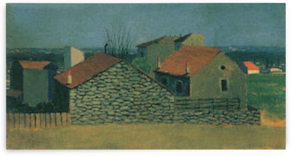 Houses in Puteaux by Felix Vallotton by Felix Vallotton