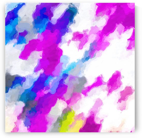 psychedelic painting texture abstract in pink purple blue yellow and white by TimmyLA