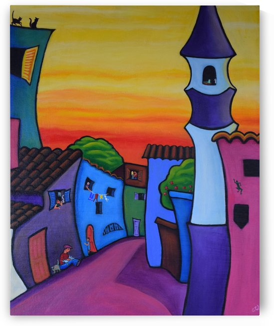 Lane in Languedoc by Annette Gaffney