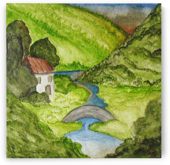 HiddenValley Watercolor by DigitaLeon