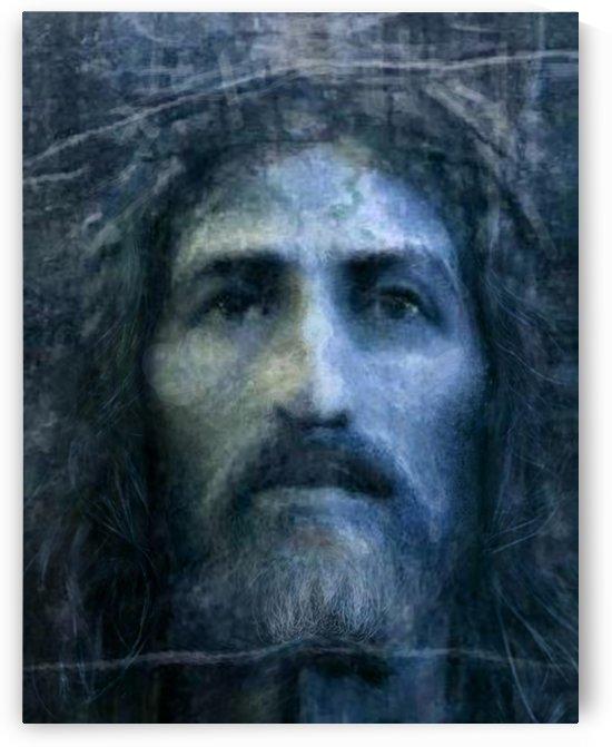 Christ face reconstruction blue by ArtofCaelia