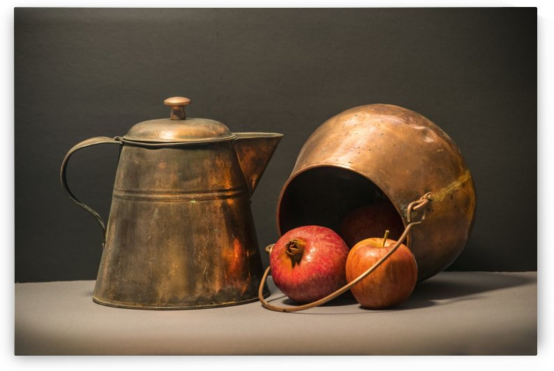 Copper Pots Pomegranate Apple by Frank Wilson