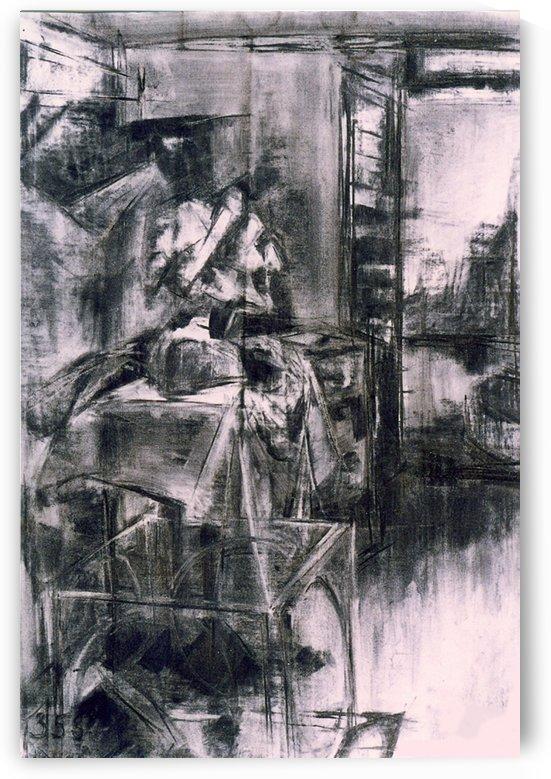 Study with Dantes bust by ArtofCaelia