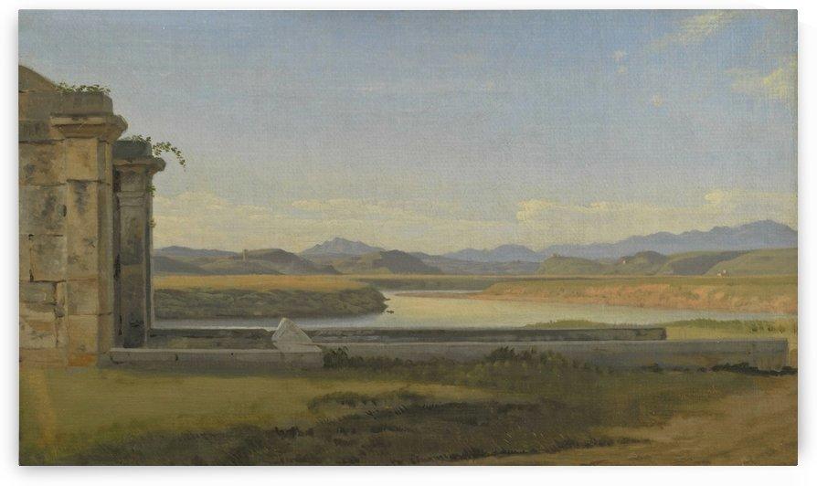 Landscape near Hamburg by Christoffer Wilhelm Eckersberg