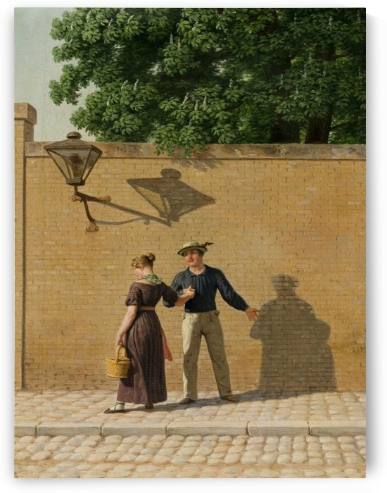 A sailor taking leave of his girlfriend 1840 by Christoffer Wilhelm Eckersberg