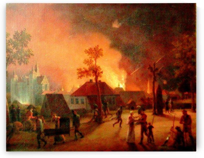 The Bombardment of Copenhagen by Christoffer Wilhelm Eckersberg
