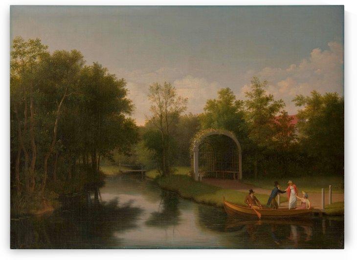 Arbour in the park of Sanderumgard manor by Christoffer Wilhelm Eckersberg