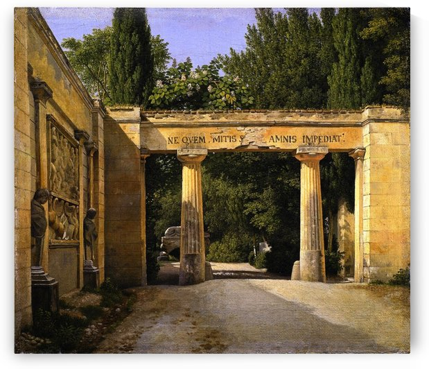 View of the Garden of the Villa Borghese in Rome by Christoffer Wilhelm Eckersberg