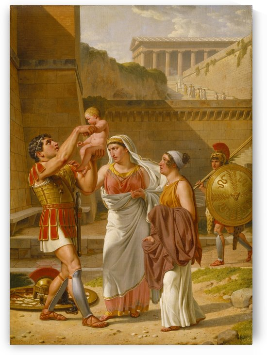Hector's farewell to Andromache by Christoffer Wilhelm Eckersberg