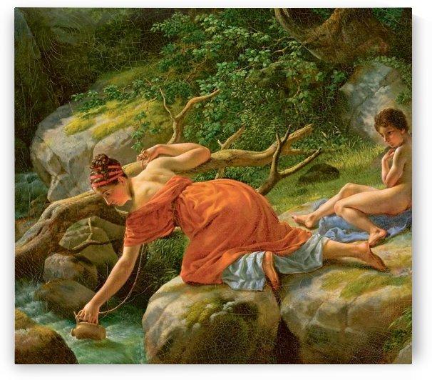 Agar et Ismael by Christoffer Wilhelm Eckersberg